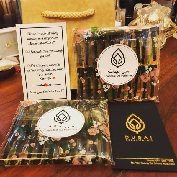 Combo 30 chai Tinh dầu nước hoa Dubai mini - Chai 1ml