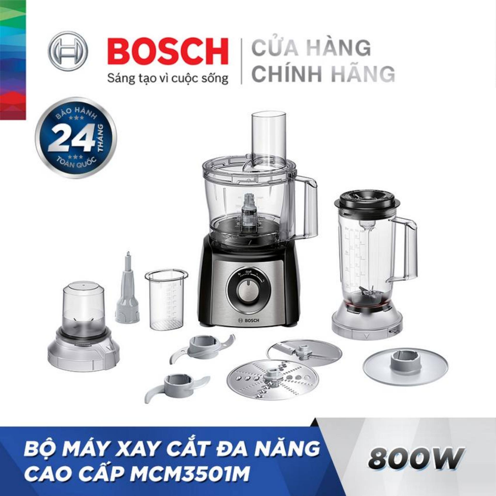 Bộ máy xay cắt đa năng cao cấp Bosch MCM3501M (800W)