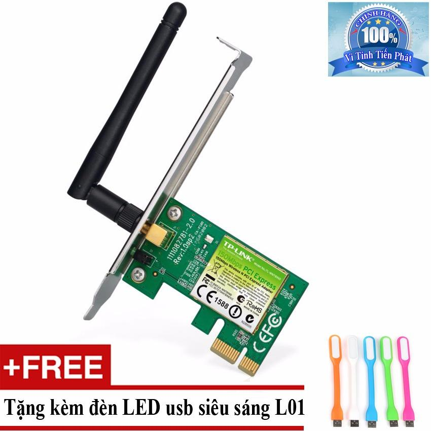 Hình ảnh Card mạng thu WiFi TP-Link TL-WN781ND + Tặng đèn LED usb mã L01