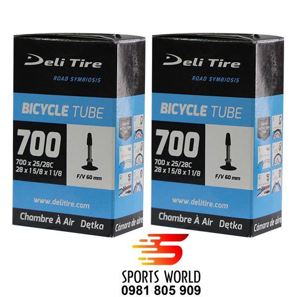 Cặp 2 ruột xe đạp 700x25/28C 60FV DELI-TIRE ||| SPORTS WORLD Shop:  Ruột xe đạp, Săm xe đạp, vỏ xe đạp, lốp xe đạp, phụ kiện xe đạp, phụ tùng xe đạp