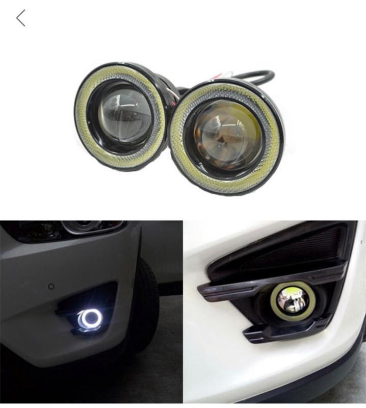Cặp đèn Bi gầm  dành cho xe hơi  75mm vòng sáng xanh dương   1 đôi