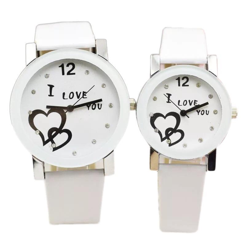 Hình ảnh Đồng hồ cặp I Love You dành cho cặp đôi teen (Trắng)