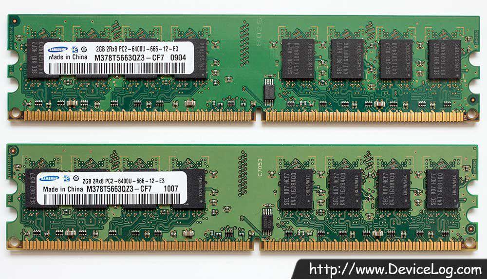 Hình ảnh Ram Pc Samsung Ddr2 2gb Bus 800 Mhz