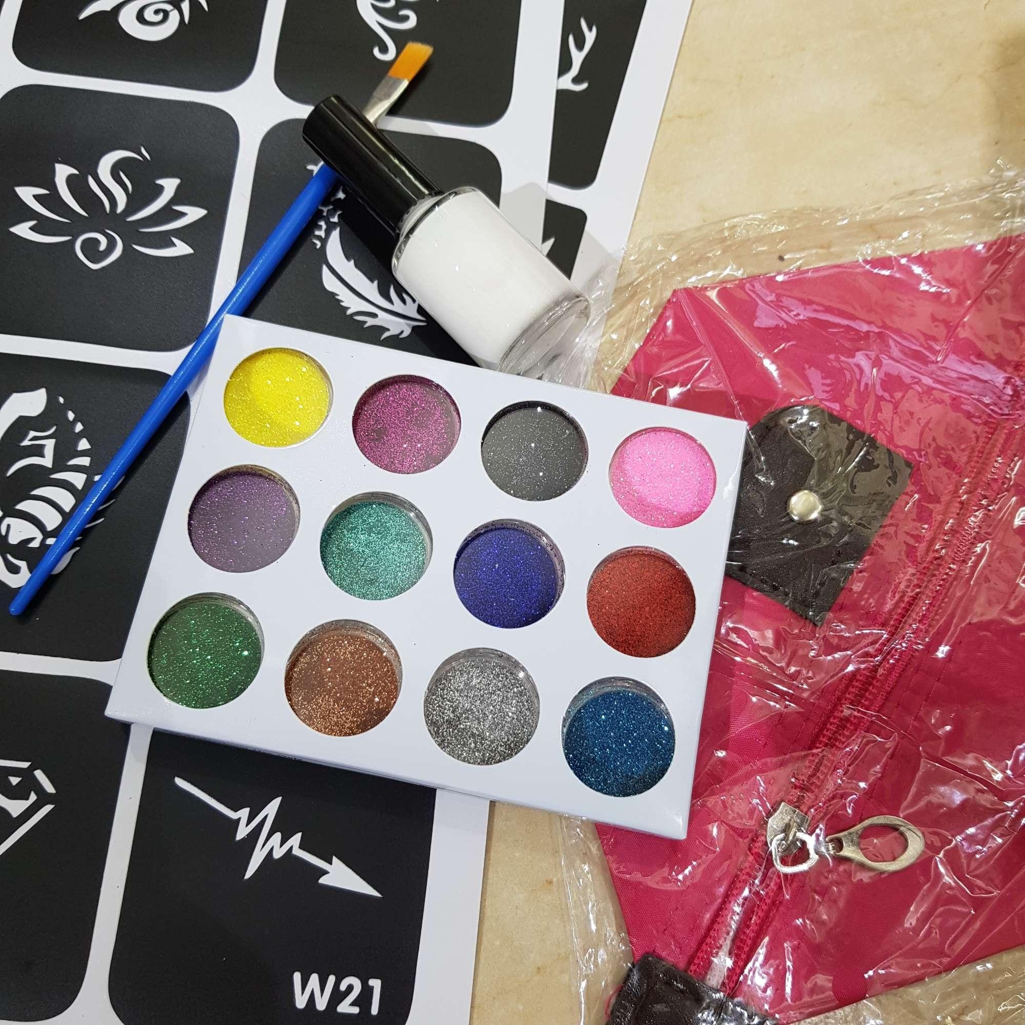 Bộ đồ xăm henna kim tuyến