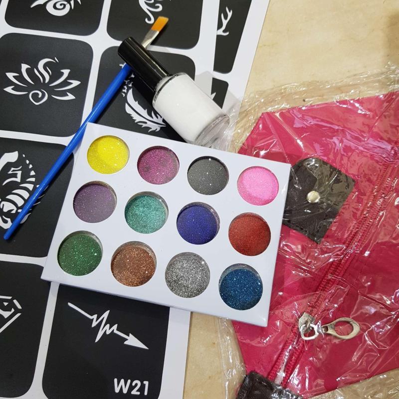 Bộ đồ xăm henna kim tuyến nhập khẩu