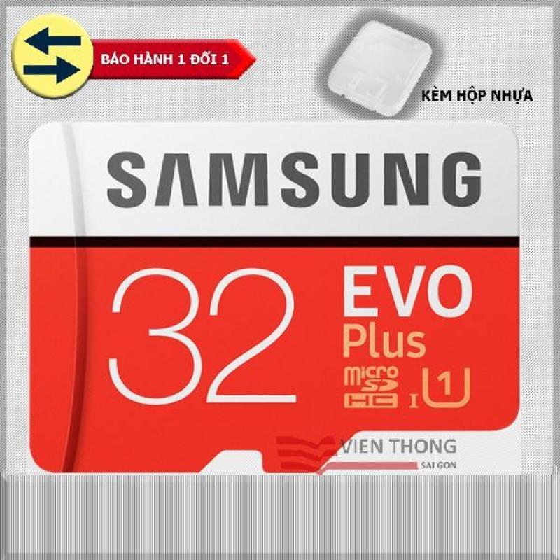 Thẻ nhớ 32gb tốc độ cao Up to 95mb/s MicroSDHC Samsung EVO Plus (đỏ ) thẻ + Hộp nhựa + Tặng đầu đọc micro (Mẫu ngẫu nhiên)