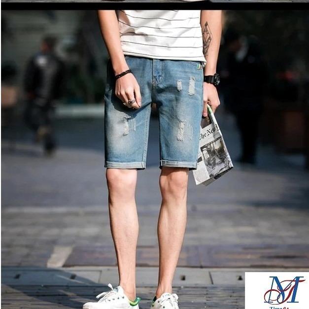 Mã Khuyến Mại Quần Jeans Short Nam Lửng Ngố Bo Han Quốc 2018 Timashop26 Js1 Oem