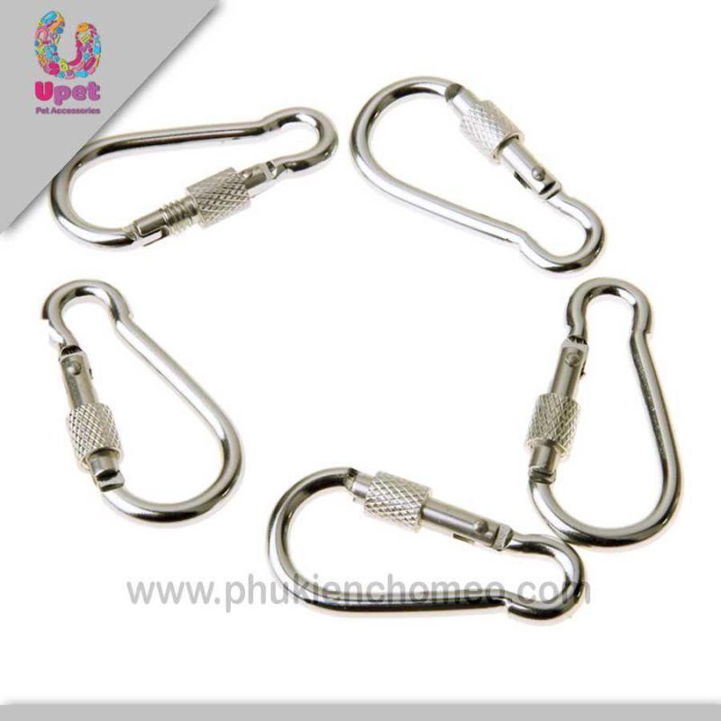 Hanapet-1022 - Móc inox dắt chó có khóa size nhỏ 5cm ( UK   4711871).