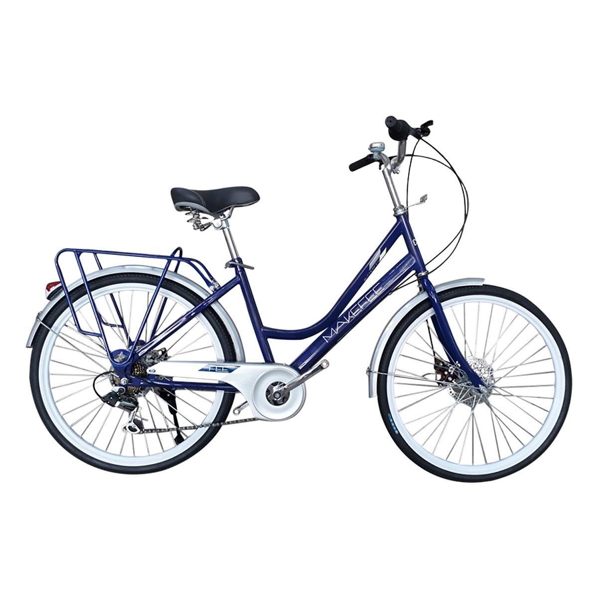 Xe đạp thời trang Makefee Butterfly 24 Blue White