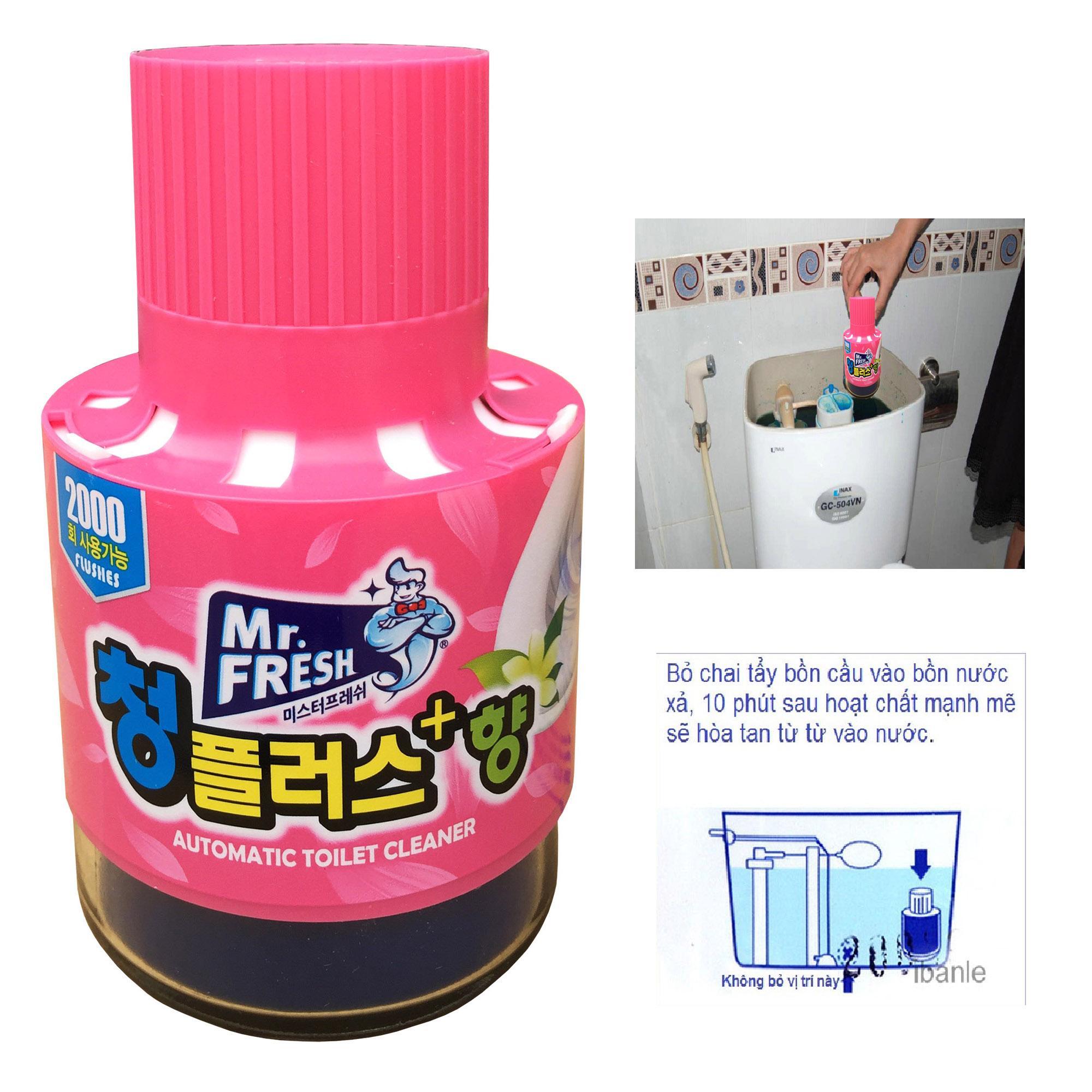 Hình ảnh Chai thả bồn cầu tự động làm sạch diệt khuẩn và làm thơm Mr.Fresh Hương Ly TI872