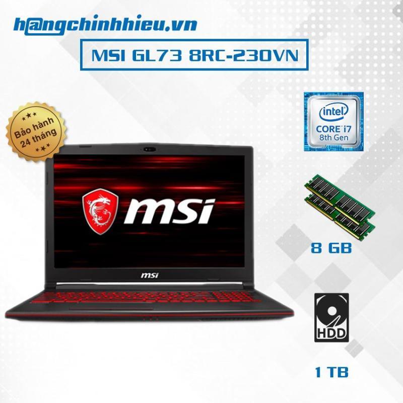 Laptop MSI GL73 8RC-230VN (i7-8750H, VGA GTX 1050 4GB, 17.3 FHD, Win 10) - Hãng phân phối chính thức