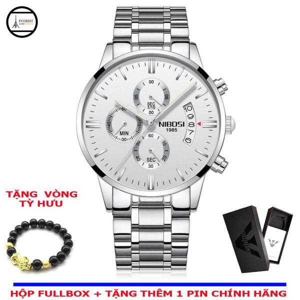 Đồng hồ nam, đồng hồ nibosi 2309 + Vòng tỳ hưu phong thủy bán chạy