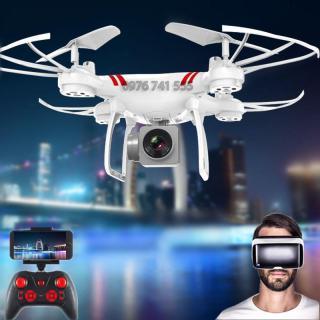 Máy bay điều khiển từ xa Flycam KY101 Camera Full HD, Kết nối Wifi (Tặng tay cầm điều khiển) Trắng thumbnail
