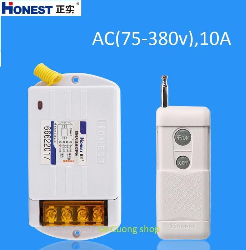 (Miễn phí vc)(1 remote) Công tắc điều khiển từ xa Honest HT-6380KG 10A