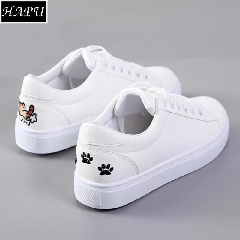 Giày sneaker nữ gót thêu mèo dễ thương - GTTG25 + tặng 1 thẻ tích điểm shoptienich92