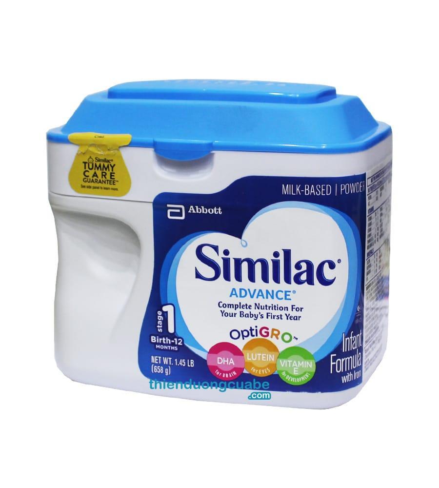 SỮA Similac Advance NON GMO từ 0-12 tháng 658g