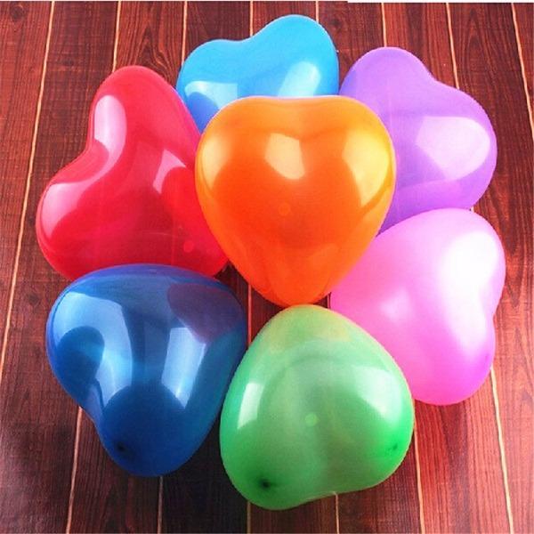 Hình ảnh Bộ 100 Bong Bóng Bay Balloon Hình Trái Tim Nhiều Màu - Chirita
