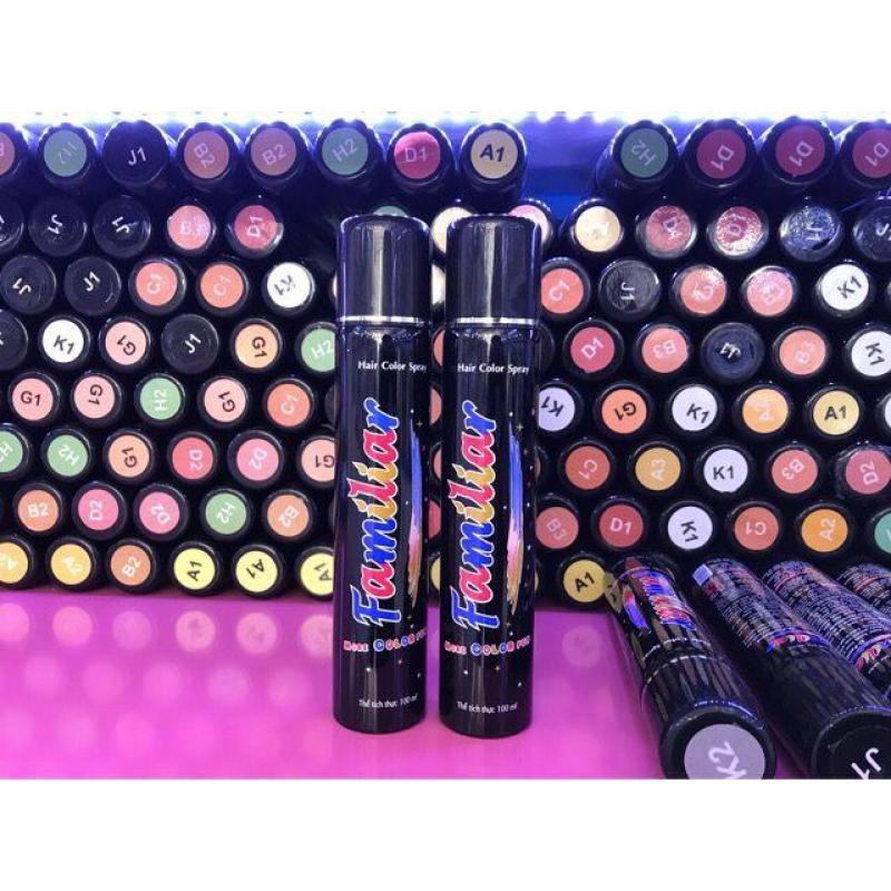 Keo xịt tóc màu Familiar 100ml - Màu I3 hồng tươi giá rẻ