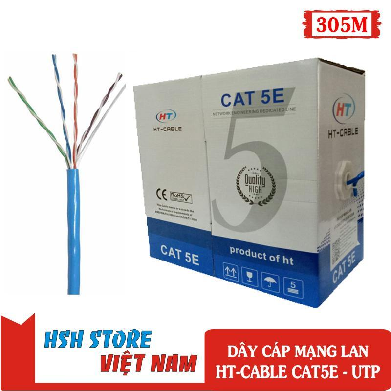 Bảng giá Cuộn dây cáp mạng LAN HT-CAT5E UTP 305M (Màu xanh) Phong Vũ
