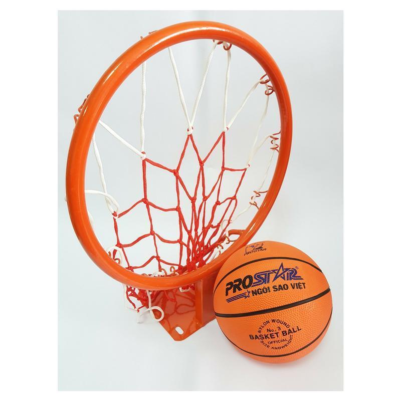 Bán Combo bộ Vành bóng rổ 35cm + Bóng rổ gerustar số 3 THỂ THAO 360