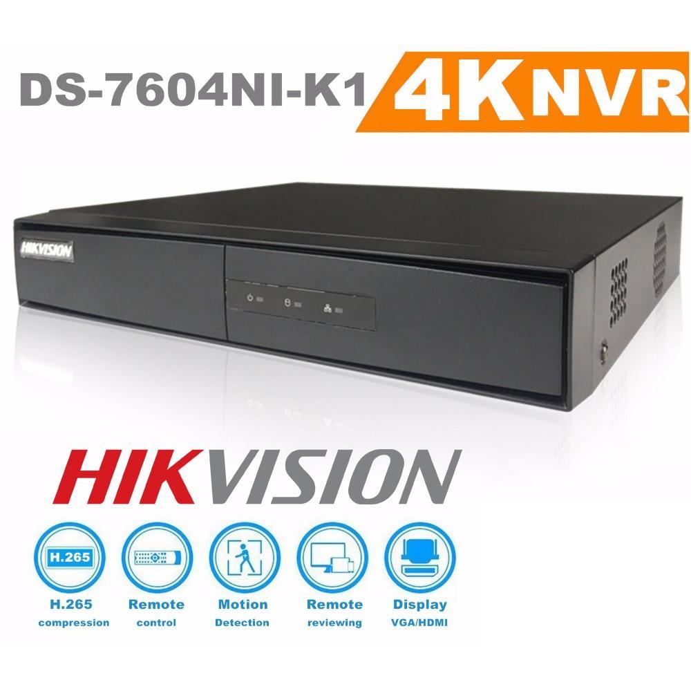 Đầu Ghi Hình 8.0MP Camera Ip HIKVISION DS-7604NI-K1(B) / 4 Kênh Ultra HD