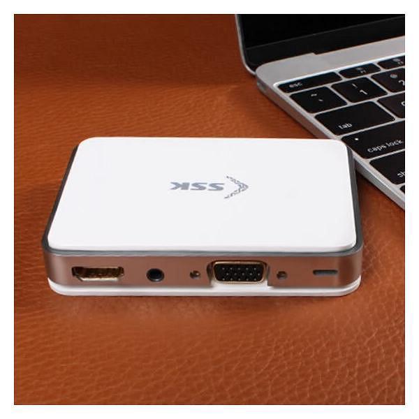 Hộp chuyển đổi HDMI + VGA SSK xuất hình ảnh, âm thanh từ điện thoại ra TV, máy chiếu