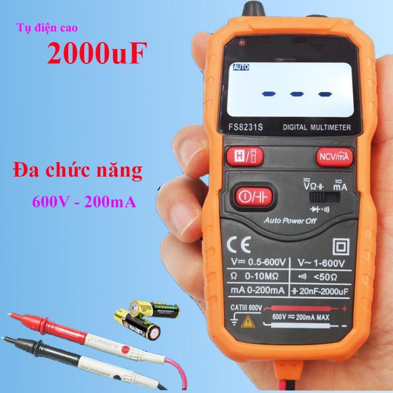 Đồng hồ vạn năng kỹ thuật số FS8231S độ chính xác cao, đo vôn kế, ampe kế, đoản mạch, thông mạch, chống cháy - Hàng nhập khẩu