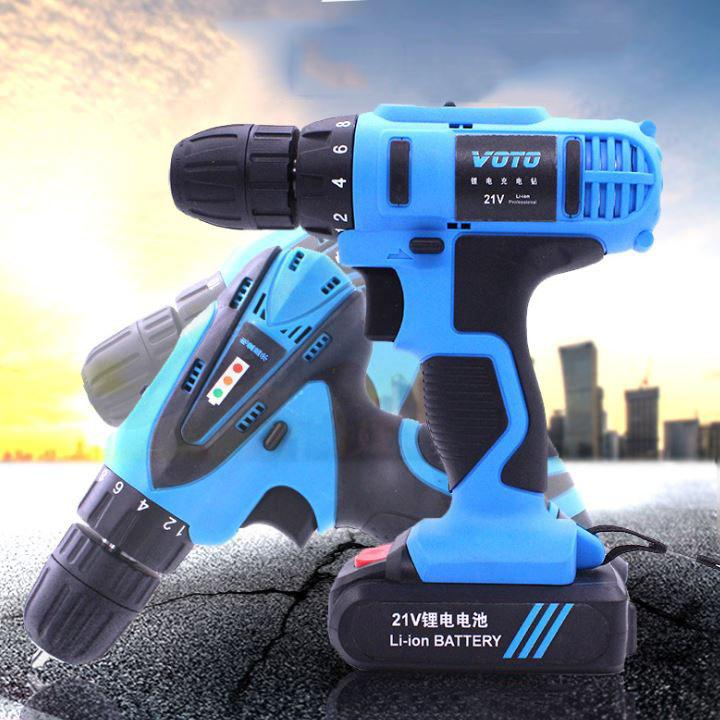 Dụng cụ cầm tay bộ máy bắn vít di động không dây đa chức năng có sạc máy bắn vít gia đình Voto -AL