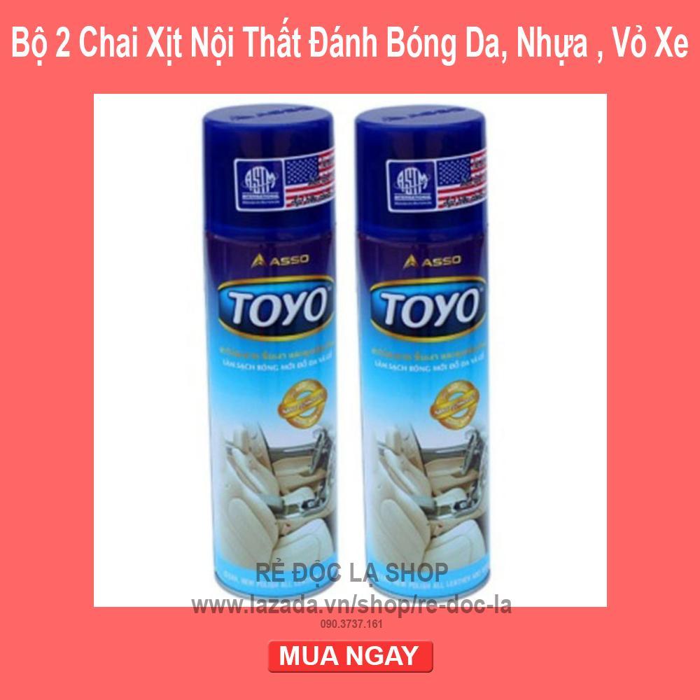 COMBO 2 Chai Xịt Nội Thất Đánh Bóng Da , Nhựa , Vỏ Xe Toyo 500ml Giá Quá Ưu Đãi