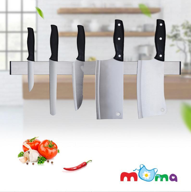 Thanh ngang Inox 304 hít từ tính, nam châm để gác dao, muỗng, nĩa, đũa dụng cụ bếp, sắp xếp gọn gàng nhà bếp, tiện dụng giữ đồ nhà bếp khô ráo_HK099-51