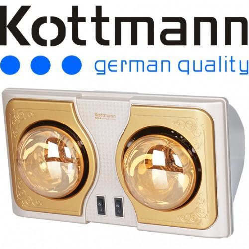 Đèn sưởi nhà tắm Kotmann 2 bóng K2BH