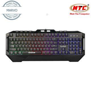 [HCM]Bàn phím giả cơ Marvo KG860 dành cho game thủ led đa màu - hỗ trợ 6 phím multimedia (Đen) - Nhất Tín Computer thumbnail