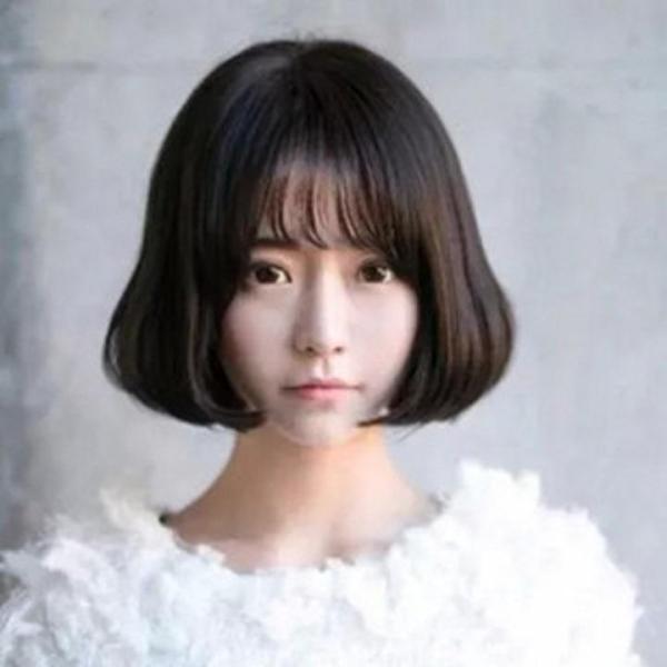 Tóc Giả Nữ Mái Thưa Màu Đen ADORA - TG89 giá rẻ