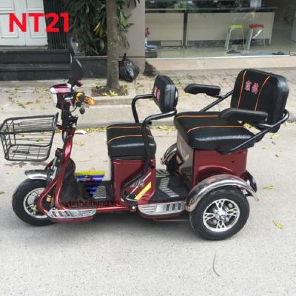 Xe điện 3 bánh 2 ghế ngồi NT29 cho người già, người tàn tật nhập khẩu