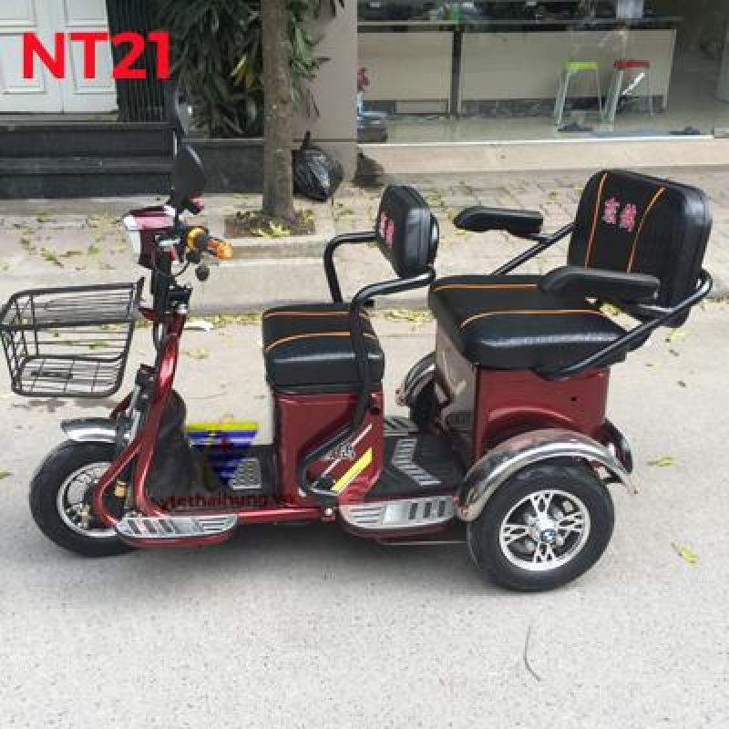 Xe điện 3 bánh 2 ghế ngồi NT29 cho người già, người tàn tật