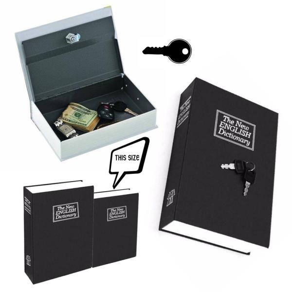 Két sắt hình quyển sách - hộp đựng két sắt bảo mật nhỏ gọn GD058B (Đen)