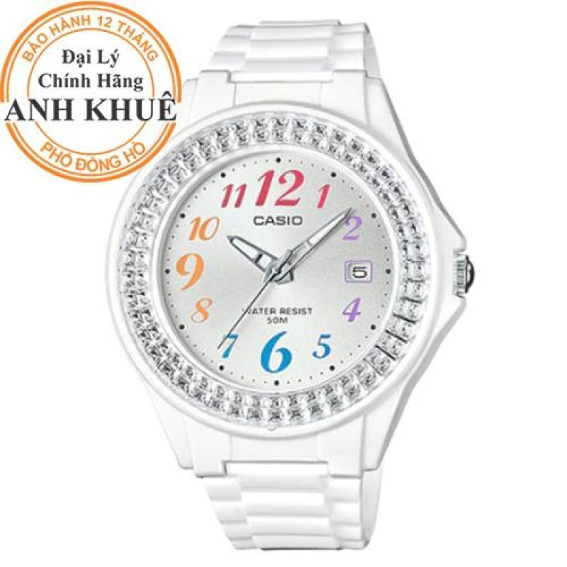 Đồng hồ nữ dây nhựa Casio Anh Khuê LX-500H-7BVDF