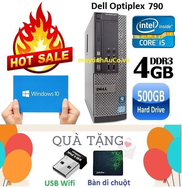 Máy tính đồng bộ Dell Optiplex 790 Core i5 2400 / 4G / 500G - Tặng USB Wifi , Bàn di chuột , Bảo hành 24 tháng