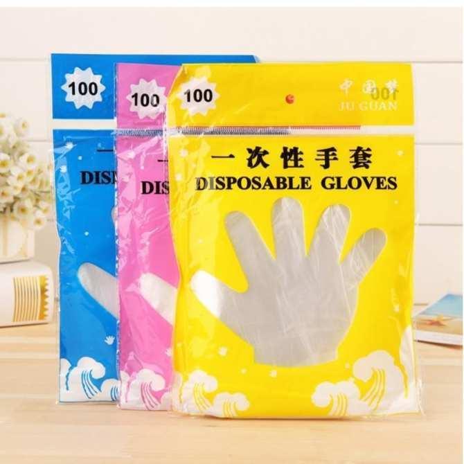 Hình ảnh Bộ 2 Găng tay ni lông vệ sinh thực phẩm(100 cái) + Tặng kèm thẻ tích điểm KoreaStore