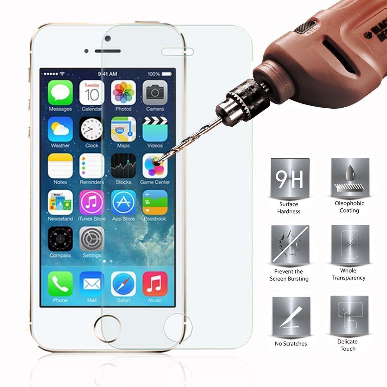 Hình ảnh Cường lực cho iPhone 5S (9H cong 2.5D)