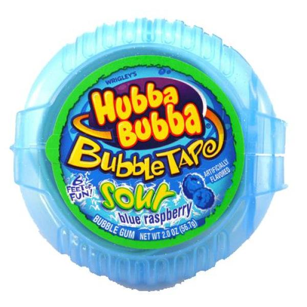 Kẹo gum cuộn Hubba Bubba DÀI 180cm  vị Việt Quất màu xanh