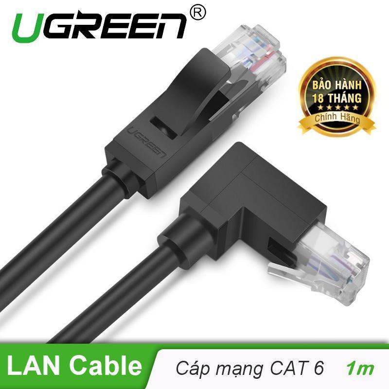 Bảng giá Cáp mạng bấm sẵn 2 đầu Cat6 UTP 1 đầu 90° dài 1m UGREEN NW115 30833 - Hãng phân phối chính thức Phong Vũ
