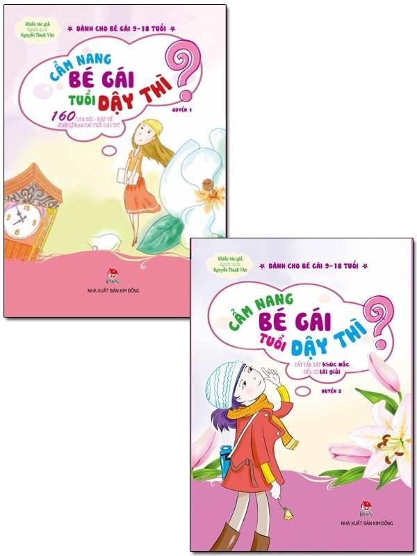 Mua COMBO CẨM NANG BÉ GÁI TUỔI DẬY THÌ (BỘ 2 QUYỂN) - Kim Đồng - sách cho bé Gái