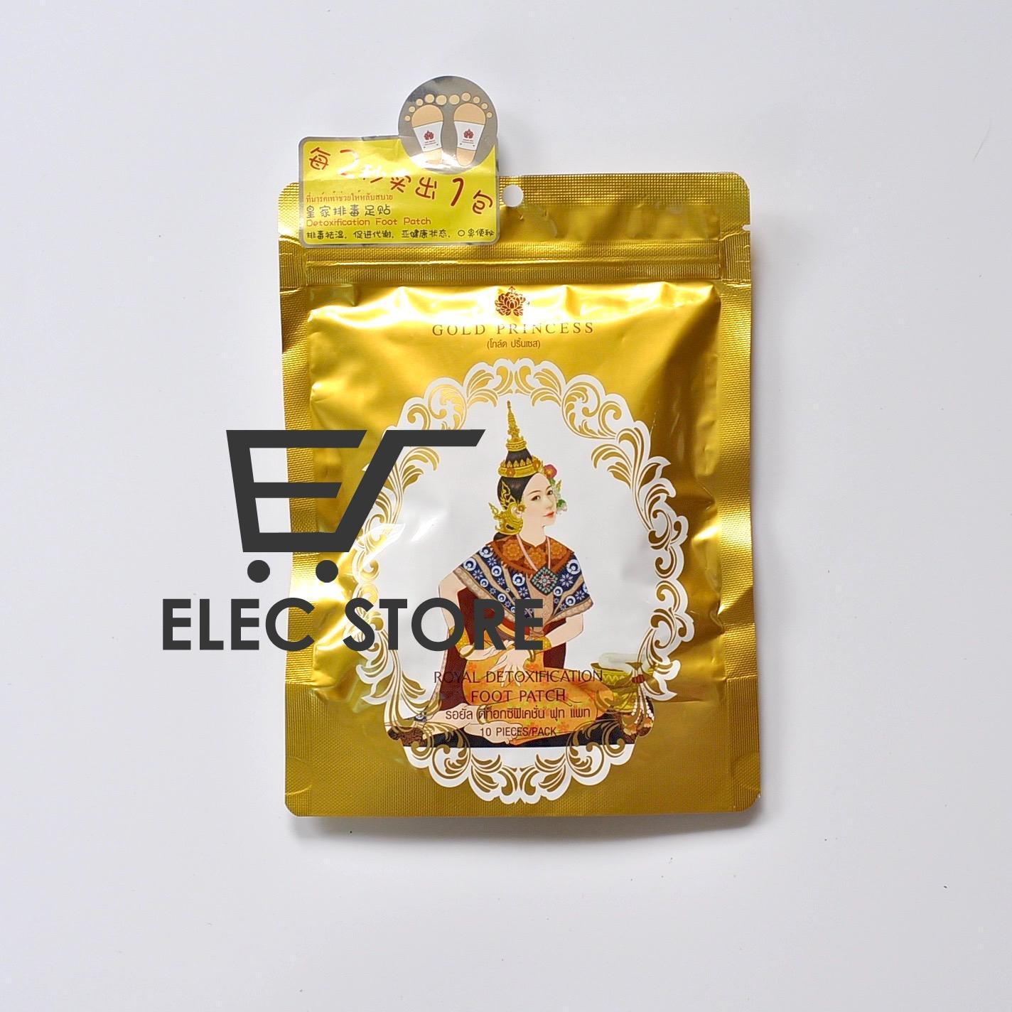 Miếng dán thải độc chân Gold Princess Thái Lan (Mỗi túi 10 miếng) Màu vàng đồng cao cấp
