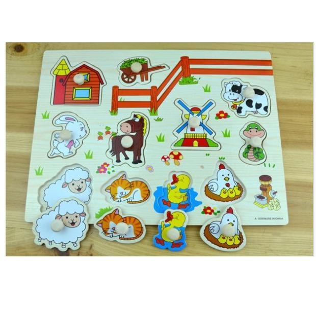 Hình ảnh Bảng ghép hình vật nuôi BBS603