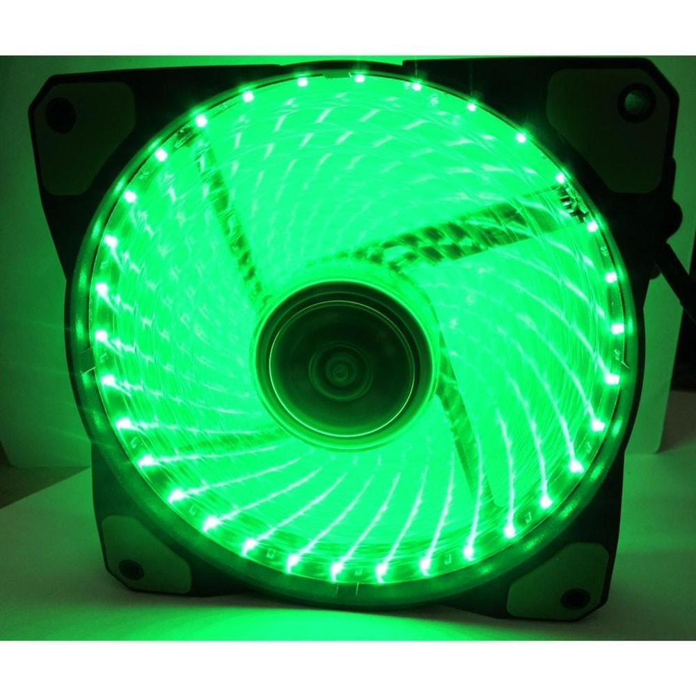 Hình ảnh Fan led Quạt Case thông gió Fan led 12cm -36 bóng led xanh Greend