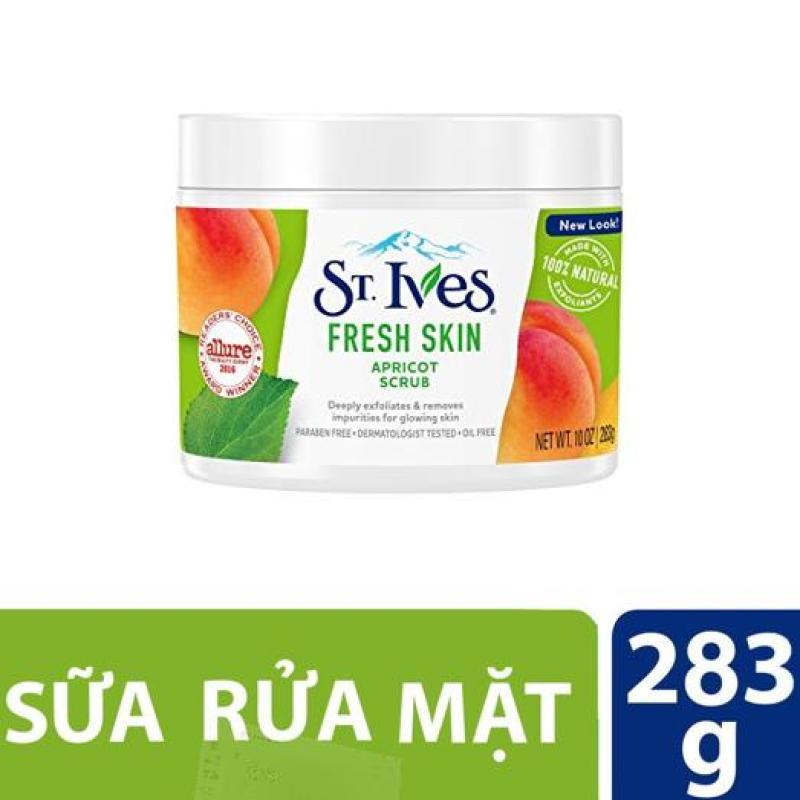 Sữa rửa mặt tẩy tế bào chết St.Ives tươi mát hương mơ 283g (dùng được cho body) nhập khẩu