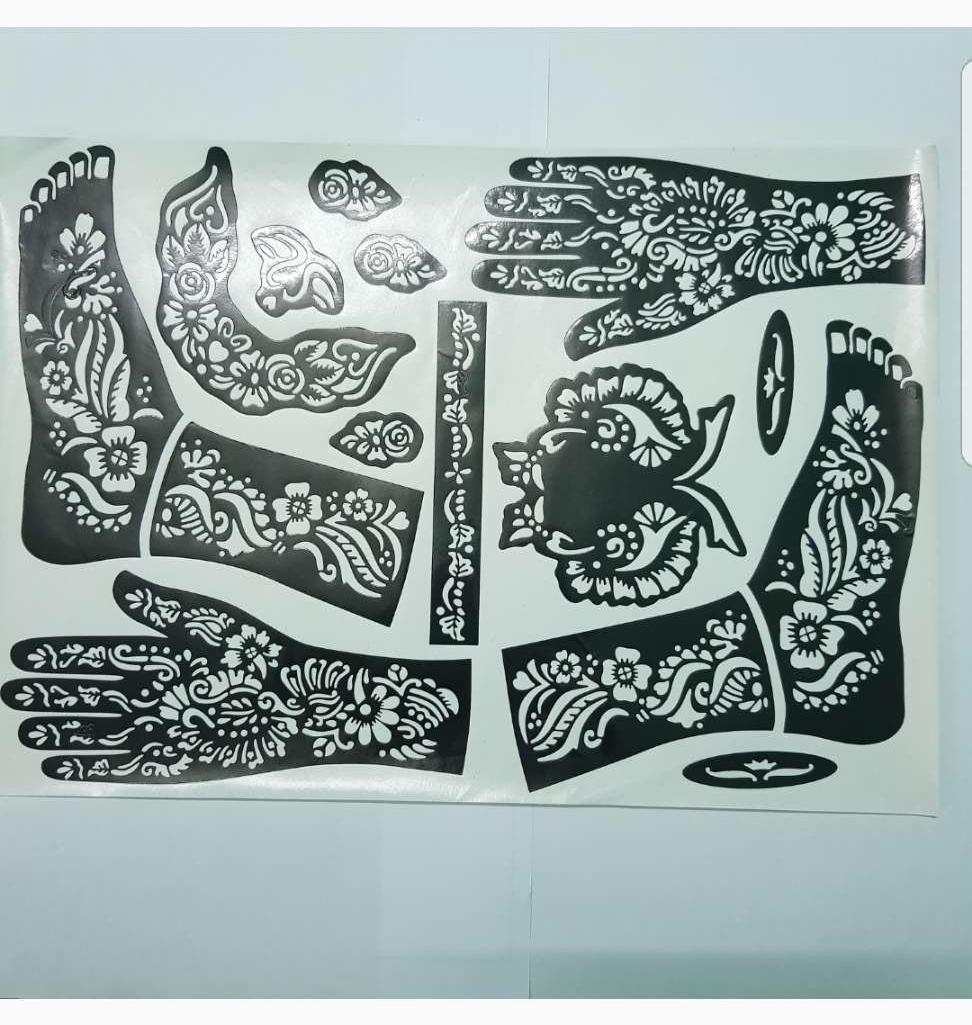 Set khuôn vẽ henna tay ful và chân tốt nhất
