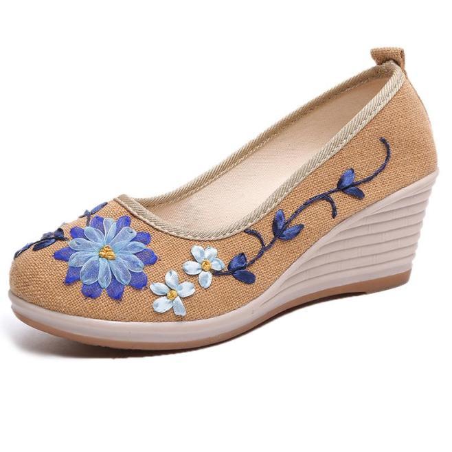Phong Cách Trung Quốc Lao Beijing Cây Đay Đế Bằng Giày Lười Giày Giày Vải giá rẻ