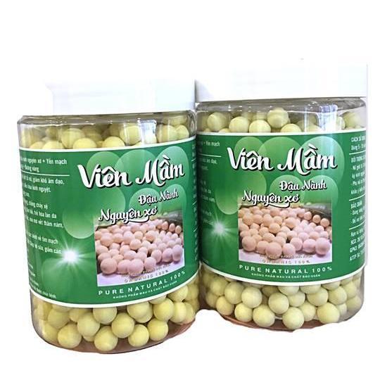 1 KG ( 2 Hũ) Viên Mầm đậu nành hồng sâm mật ong, trẻ hóa tăng vòng 1